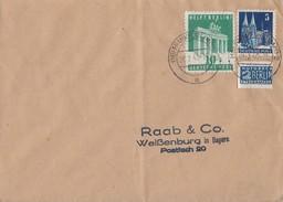 Bauten Brief Mif Minr.75wg, 101 Frankfurt 24.2.49 - Bizone