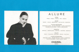 Cartes Parfumées Carte CHANEL ALLURE     De CHANEL - Modern (from 1961)