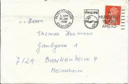Letter - Postmark Philips - A Hundred Years Ahead, Peterborough, 30.1.1991., Great Britain - 1952-.... (Elizabeth II)