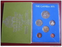 Gambia 1971 6 Coin Set  Proof Royal Mint Envelope 1 Butut - 1 Dalasi - Gambia