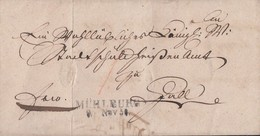 Brief L2 Mühlburg 9.11.1831 Gel. Nach Hall Und Zurück Doppelverwendung - Deutschland