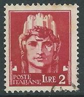 1929-42 REGNO USATO IMPERIALE EFFIGIE 2 LIRE - S255-3 - Usati