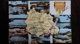 CPSM DEPARTEMENT DU PUY DE DOME 63 NOS BEAUX LACS AUVERGNE CONTOUR GEOGRAPHIQUE  ED CIM 2 EME CHOIX - Mapas