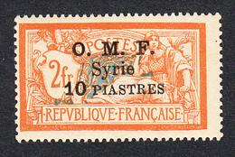 SYRIE - 1920-22 -N° 72 (Yvert) - 10 P / 2 F - Neuf - Sans Trace De Charnière - Surcharge Sur 3 Lignes - Neufs