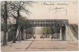 Yvelines POISSY Pont Du Chemin De Fer De Grande Ceinture  Colorisé     ..G - Poissy