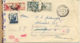 """1943 """" Sobre De Barcelona A Alemania """" + Sello Barna. Censuras Española Y Alemana, Llegada, Transito. Ver 2 Scan - Nationalists Censor Marks"""