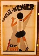 CHOCOLAT MEUNIER CREATION EDIA AFFICHE FROSSARD VERS 1940  SCAN R/V - Publicité