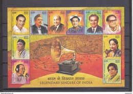 India 2017 India - Legendary Singers  MS / Sheets / Bl. *** MNH