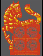 LIECHTENSTEIN  2013 CHINESE SIGNS OF ZODIAC - HORSE  SHEET(Klb)  MNH**