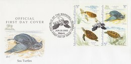 MARSHALL ISLANDS 2002 FDC With Turtles - Turtles