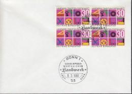 BRD  553, FDC, Mit 553 IV Zwei Grüne Striche, Handwerk 1968 - FDC: Briefe