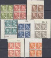 DÄNEMARK  8x 4erBlock, Postfrisch **, Frederik IX., 1948...
