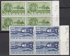 DÄNEMARK  378,380, 4erBlock, Postfrisch **,  Landwirtschaft 1960