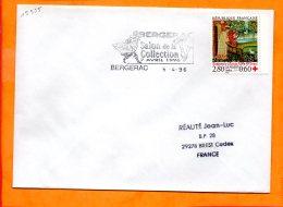 DORDOGNE, Bergerac, Flamme SCOTEM N° 15355, Salon De La Collection 7 Avril 1996 - Marcophilie (Lettres)
