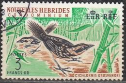 Nouvelles Hebrides 1967 Michel 266 O Cote (2005) 15.00 Euro Megalurulus Cachet Rond - Oblitérés