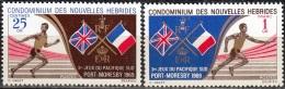 Nouvelles Hebrides 1969 Michel 281 - 282 Neuf ** Cote (2005) 3.00 Euro Jeux Du Pacifique Sud - Légende Française