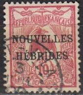 Nouvelles Hebrides 1908 Michel 11 O Cote (2005) 7.00 Euro Cagou Cachet Rond - Légende Française
