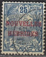 Nouvelles Hebrides 1908 Michel 12 O Cote (2005) 9.00 Euro Rade De Nouméa Cachet Rond - Légende Française
