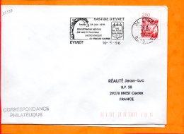 DORDOGNE, Eymet, Flamme SCOTEM N° 15399, Bastide Fondée En 1270, Armoiries - Marcophilie (Lettres)