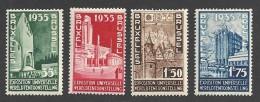 Belgie 1934  World Expo In Brussel  Mi. 378-81 MH, Ungebraucht, Avec Trace De Charniere - Belgique