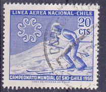 CHILI- 1965 - Ski - Mi Nr. 638 - YT Nr. PA225 - Sn: C259 - USED- ° - Chili