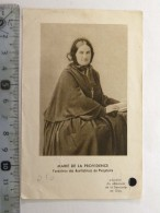 Image Religieuse, Marie De La Providence, Parcelle De Vêtement De La Servante De Dieu - Images Religieuses