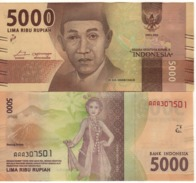 INDONESIA   Attractive.  Newly Issued. 5'000  Rupiah.  2016  UNC - Indonesia