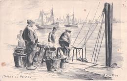 Nieuport-Bains TRIAGE DU POISSON (Illustration J.V.D. Bos) - Nieuwpoort