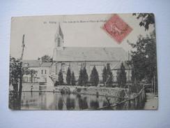 CPA Velizy Un Coin De La Mare Et Place De L'Eglise. T.B.E - Velizy