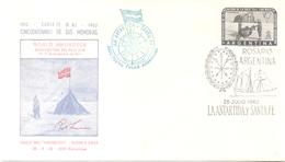ROALD AMUNDSEN  SUR AVEC SIGNATURE CINCUENTENARIO DE SUS MEMORIAS 1912-1962 50 YEARS OF HIS BOOK OF MEMORIES - Sellos