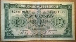 Belgique - 10 Francs - 01/02/1943 - PICK 122 - TTB - [ 2] 1831-... : Koninkrijk België