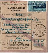 LBON12 - MANDAT CARTE COLONIAL LA FOA 21/11/1949 - Nouvelle-Calédonie