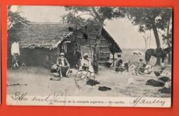 IAD-28  Escenas De La Campana Argentina : Un Rancho. TRES ANIME. USED In 1907for France - Argentina