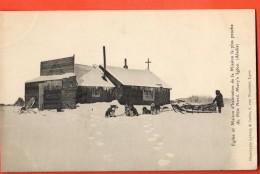 IAE-03 Eglise Et Maison Du Missionnaire La Plus Proche Du Pôle Nord. Mary's Igloo Chiens Polaires. Not Used - Etats-Unis