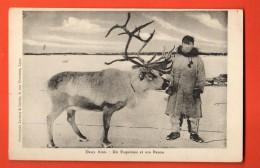 IAE-09 Deux Amis : Un Esquimau Et Son Renne.. Not Used - Etats-Unis
