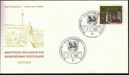 Germany Stuttgart 1965 / Hauptstädte Der Bundesländer / Coat Of Arms