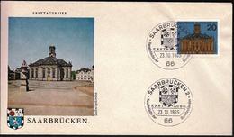 Germany Saarbrucken 1965 / Hauptstädte Der Bundesländer / Coat Of Arms