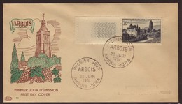 France,  FDC, 1951, Y&T 905, Site D'Arbois, Cote 65€, Voir Image. [int. CLAS.NUMIS-01] - FDC