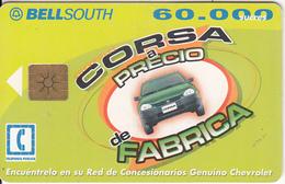 ECUADOR - Chevrolet Corsa, BellSouth Telecard, Chip GEM1.2, Used - Ecuador