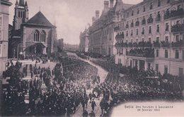 Armée Suisse, Défilé Des Troupes à Lausanne En 1915 (8042) - Weltkrieg 1914-18
