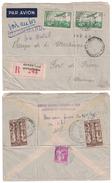 1937 POSTE AERIENNE PA N°14 X 2 Sur LETTRE RECOMMANDÉE Pour FORT DE FRANCE MARTINIQUE COMPLEMENT AU DOS TOUS PERFORÉS CN - Poste Aérienne