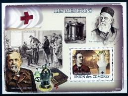 Comores, 2009, Medicine, Red Cross, Dunant, Pasteur, MNH, Michel Block 455