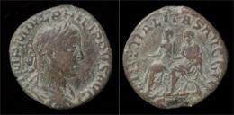 Philip II AE Sestertius Philip II And Philip I Seated Left - 5. L'Anarchie Militaire (235 à 284)