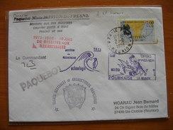 Réunion : Deux Lettres De 1988 Du Port Avec Cachets Divers Du Navire Marion Dufresne  Et Griffes Diverses - Réunion (1852-1975)