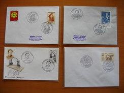 Réunion : Quatre  Plis Avec Oblitérations Journées Du Timbre  1983, 1984, 1985 Et 1986 Et Cachets Tous Différents.