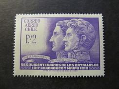 1968 - CHILE - SAN MARTIN AND O' HIGGINS - SCOTT C280 A184 2E (1) - Chile