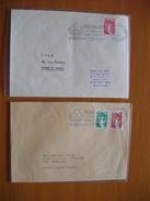 Réunion : Deux Lettres De 1980 « Floralies De L'Océan Indien » L'une Avec Date Dans La Flamme, L'autre