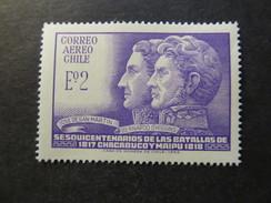 1968 - CHILE - SAN MARTIN AND O' HIGGINS - SCOTT C280 A184 2E (2) - Cile