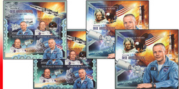 Burundi BL 0367/68** Neil Armstrong - MNH - 4 Blocs: Full Set  !  Cosmonaute