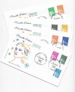"Enveloppes  1er Jour FDC 2001 4 Enveloppes Nouvelles Valeurs ""Marianne Eu Euros"" - 2000-2009"